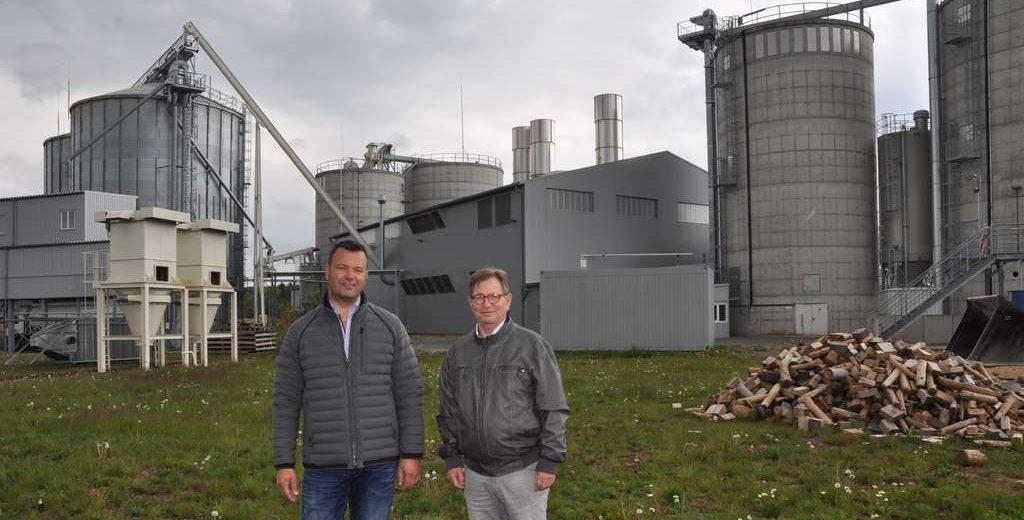 Jochen Sautter und Dr. Jens Mähler im Prinz-Eugen-Energiepark © Elmar Schulten