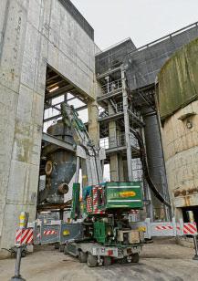 Kran im Holzgaskraftwerk in Senden