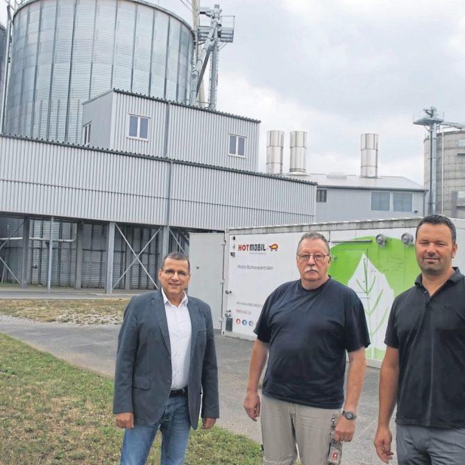 Stephan Ertle (Blue-Energy-Consultant), Günter Saure (Werksleiter), Jochen Sautter (Geschäftsführer Prinz Eugen Energiepark GmbH)