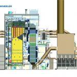 Skizze Biomasseheizkraftwerk
